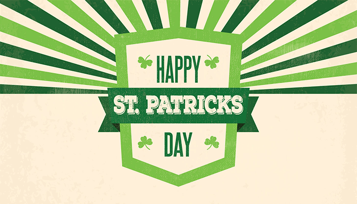 St. Patrick's Day….Weekend!  3.16.18 – 3.18.18