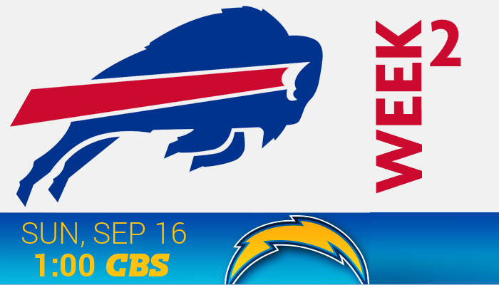 Chargers at Bills – Sep 16th 1:00PM
